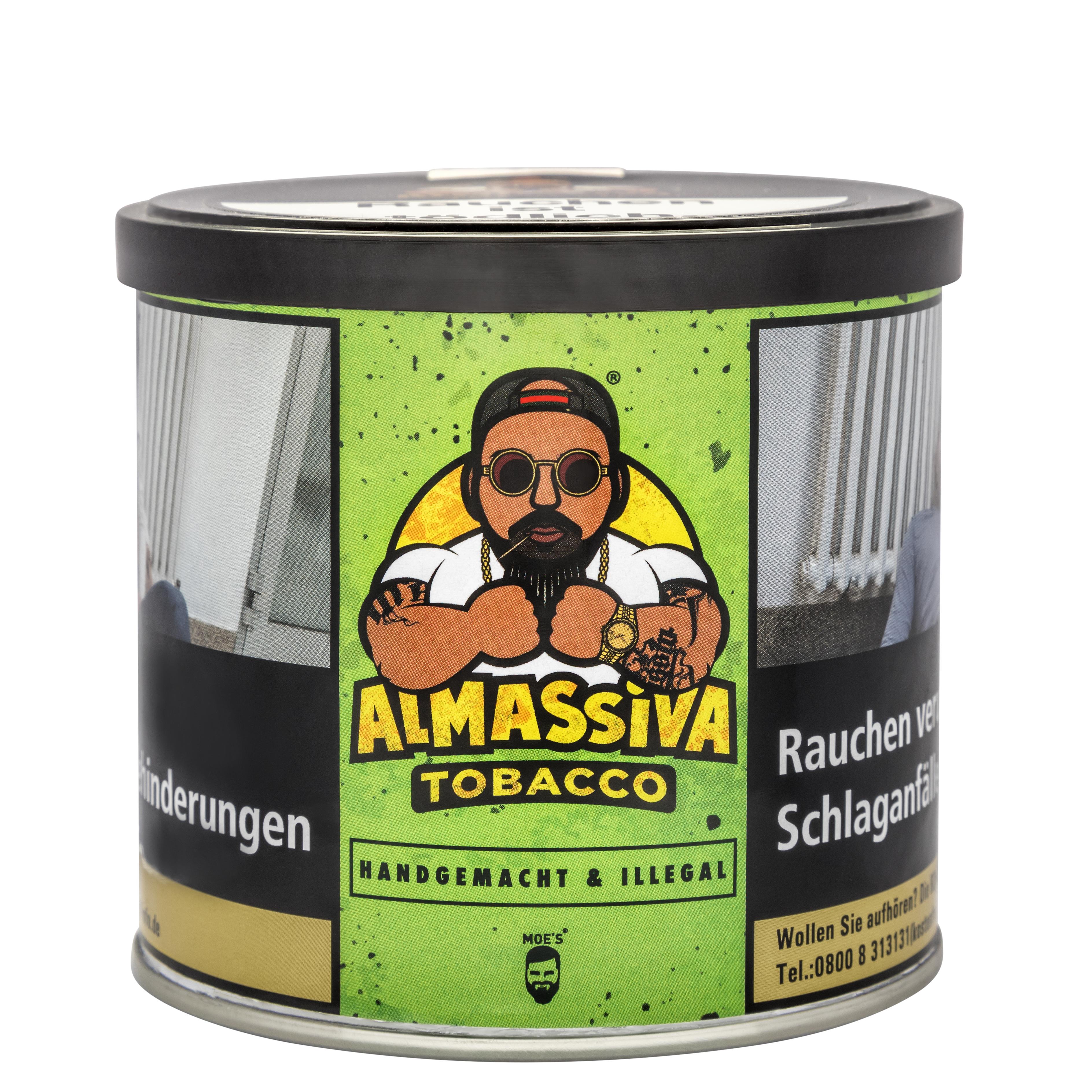 "ALMASSIVA ""HANDGEMACHT & ILLEGAL"" SHISHA TABAK KIWI ANANAS"