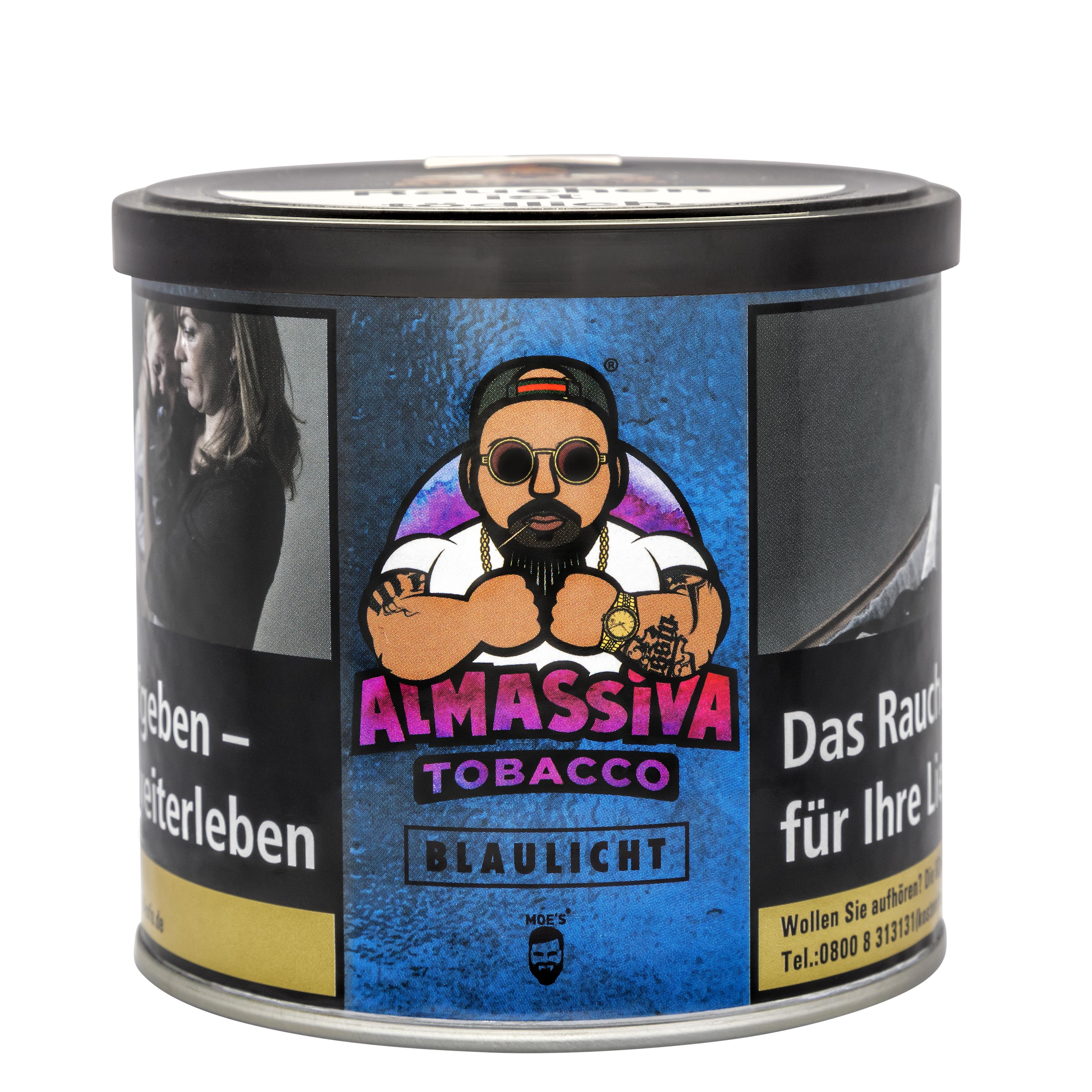 "ALMASSIVA ""BLAULICHT"" SHISHA TABAK BLAUBEERE"
